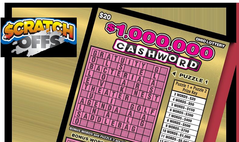 $1,000,000 Cashword :: The Ohio Lottery